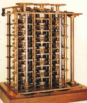 Charle Babbage's difference engine