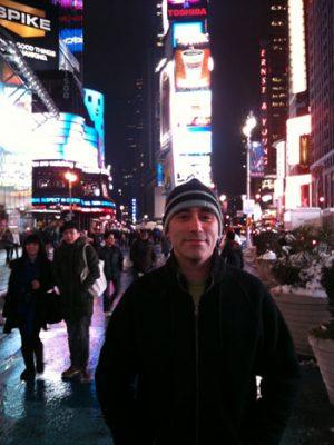 ricardo in Time Square...