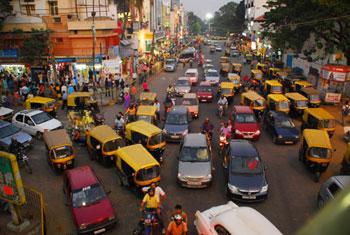 left traffic in India...